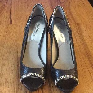 Michael Kors Black Studded Heels